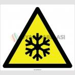 EF2092 - Dikkat Düşük Sıcaklık / Donma Tehlikesi İşareti
