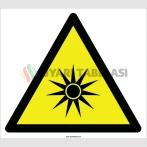 EF2110 - Dikkat Optik Radyasyon Tehlikesi İşareti