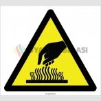 EF2113 - Dikkat Sıcak Yüzey Yanma Tehlikesi İşareti