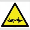 EF2119 - Dikkat Dikenli Tel Tehlikesi İşareti