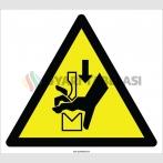 EF2120 - Dikkat Preste El Sıkışması Tehlikesi İşareti