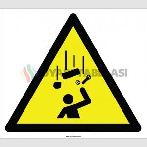 EF2121 - Dikkat Yukarıdan Malzeme Düşme Tehlikesi İşareti
