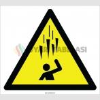 EF2126 - Dikkat Yukarıdan Buz (Sarkıt) Düşme Tehlikesi İşareti