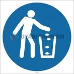 EF2133 - Çöpleri Çöp Kutusuna Atınız İşareti