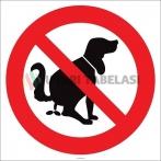EF2145 - Köpek Dışkılarını Yerde Bırakmayın İşareti