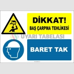 EF2154 - Dikkat! Baş Çarpma Tehlikesi, Baret Tak