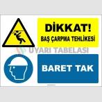 EF2155 - Dikkat! Baş Çarpma Tehlikesi, Baret Tak