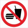 EF2158 - Yemek ve İçmek Yasaktır İşareti