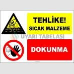 EF2160 - Tehlike! Sıcak Malzeme, Dokunma