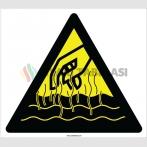 EF2153 - Dikkat Sıcak Yüzey Yanma Tehlikesi İşareti