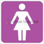 EF2163 - Bayan WC (Tuvalet) İşareti