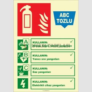 EF2188 - Fosforlu ABC Tozlu Yangın Söndürücü