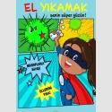 EF2237 - Kız Çocuklar için El Yıkamak Senin Süper Gücün Levhası