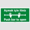 EF2244 - Açmak için itiniz, Push bar to open