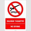 EF2257 - Türkçe İngilizce Dalmak Yasaktır, No Diving