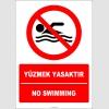 EF2261 - Türkçe İngilizce Yüzmek Yasaktır, No Swimming