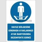 EF2267 - Havuz Bölgesine Girerken Ayaklarınızı Ayak Banyosunda Dezenfekte Ediniz