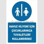 EF2299  - Havuz Hijyeni İçin Çocuklarınıza Tuvaletleri Kullandırınız