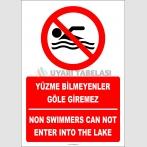 EF2317 - Türkçe İngilizce Yüzme Bilmeyenler Göle Giremez, Non Swimmers Can Not Enter Into The Lake