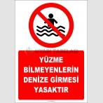 EF2325 - Yüzme Bilmeyenlerin Denize Girmesi Yasaktır