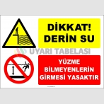 EF2384 - Dikkat Derin Su, Yüzme Bilmeyenlerin Girmesi Yasaktır
