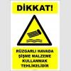EF2392 - Dikkat! Rüzgarlı Havada Şişme Malzeme Kullanmak Tehlikelidir