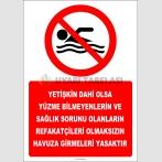 EF2477 - Yetişkin Dahi Olsa Yüzme Bilmeyenlerin ve Sağlık Sorunu Olanların Refakatçileri Olmaksızın Havuz Girmeleri Yasaktır