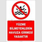 EF2500 - Yüzme Bilmeyenlerin Havuza Girmesi Yasaktır