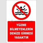 EF2501 - Yüzme Bilmeyenlerin Denize Girmesi Yasaktır