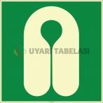 EF2000 - Fosforlu Can Yeleği İşareti Levhası/Etiketi