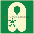 EF2517 - Fosforlu Çocuk Can Yeleği İşareti Levhası/Etiketi