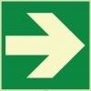 EF2008 - Fosforlu Sağ Yönde Ok İşareti Levhası/Etiketi