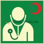 EF2003 - Fosforlu Doktor (Hekim) İşareti Levhası/Etiketi