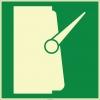 EF2001 - Fosforlu Ana Şalter İşareti Levhası/Etiketi