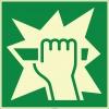 EF1999 - Fosforlu Acil Durumda Camı Kırın İşareti Levhası/Etiketi