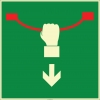 EF1994 - Fosforlu Acil Durdurma Teli İşareti Levhası/Etiketi