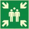 EF1990 - Fosforlu Acil Toplanma Noktası İşareti Levhası/Etiketi