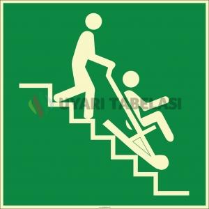EF1987 - Fosforlu Acil Durum Tahliye Sandalyesi İşareti Levhası/Etiketi