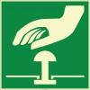 EF1985 - Fosforlu Acil Stop Butonu (Düğmesi) İşareti Levhası/Etiketi