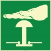 EF1966 - Fosforlu Acil Stop Butonu (Düğmesi) İşareti Levhası/Etiketi
