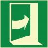 EF1981 - Fosforlu Kapıyı Açmak İçin Sağdan İtin İşareti Levhası/Etiketi