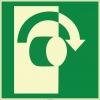 EF1979 - Fosforlu Açmak İçin Sağa Çevirin İşareti Levhası/Etiketi