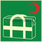 EF1975 - Fosforlu Acil Müdahale (Tıbbi Muayene) Çantası İşareti Levhası/Etiketi