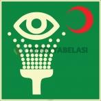 EF1970 - Fosforlu Acil Göz Duşu İşareti Levhası/Etiketi