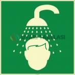 EF1965 - Fosforlu Acil Vücut Duşu İşareti Levhası/Etiketi