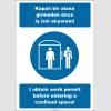 EF2529 - Türkçe İngilizce Kapalı Bir Alana Girmeden Önce İş İzni Alıyorum