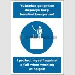 EF2530 - Türkçe İngilizce Yüksekte Çalışırken Düşmeye Karşı Kendimi Koruyorum