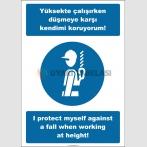 EF2536 - Türkçe İngilizce Yüksekte Çalışırken Düşmeye Karşı Kendimi Koruyorum