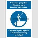 EF2527 - Türkçe İngilizce Yüksekte Çalışırken Düşmeye Karşı Kendimi Koruyorum