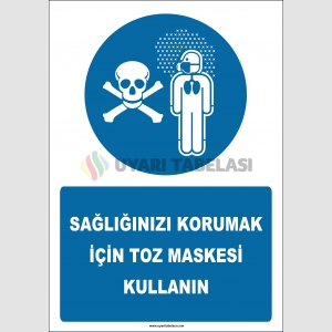 EF2583 - Sağlığınızı Korumak İçin Toz Maskesi Kullanın